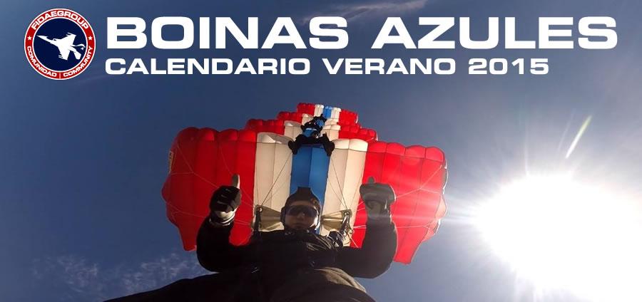 BOINAS AZULES: Calendario verano 2015