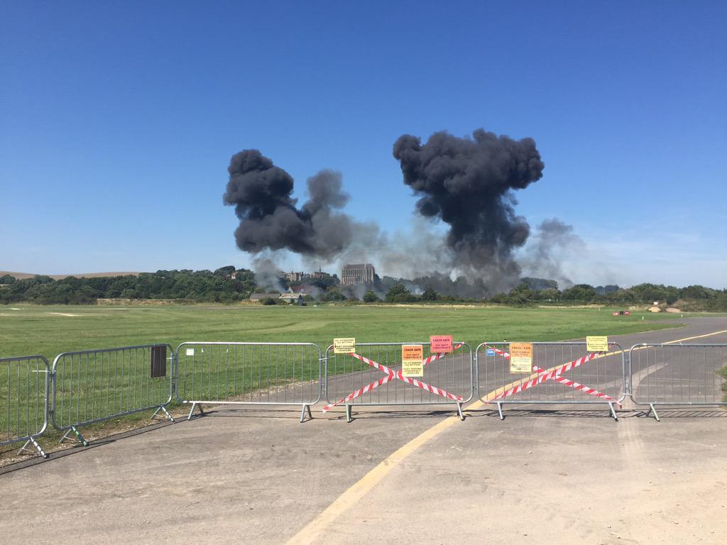 Accidente de Hawker Hunter en Shoreman AirShow 2015