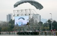 Salto libre militar de comandos en Gran Parada Militar 2015