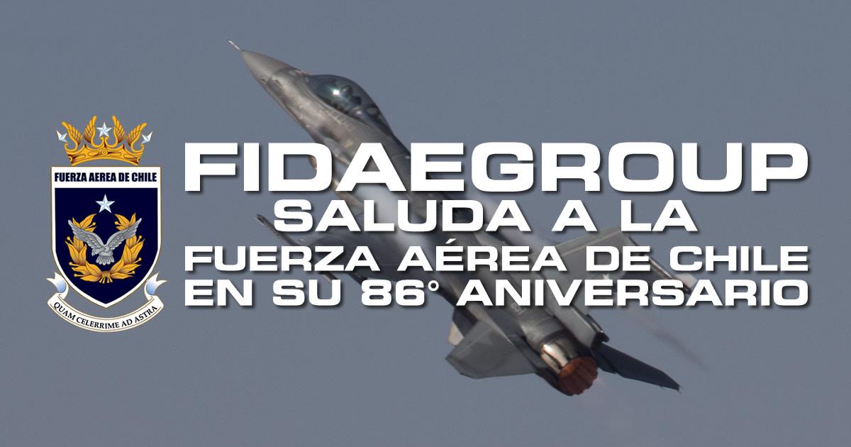 SALUDO EN LOS 86 AÑOS DE LA FUERZA AÉREA DE CHILE