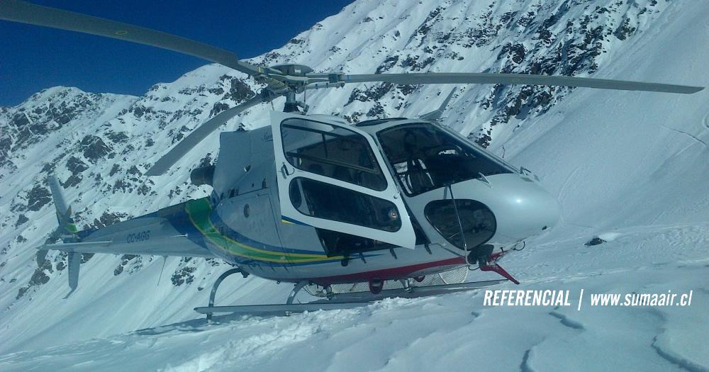 SAR realiza rescate de tripulación del AS-350 accidentado hoy