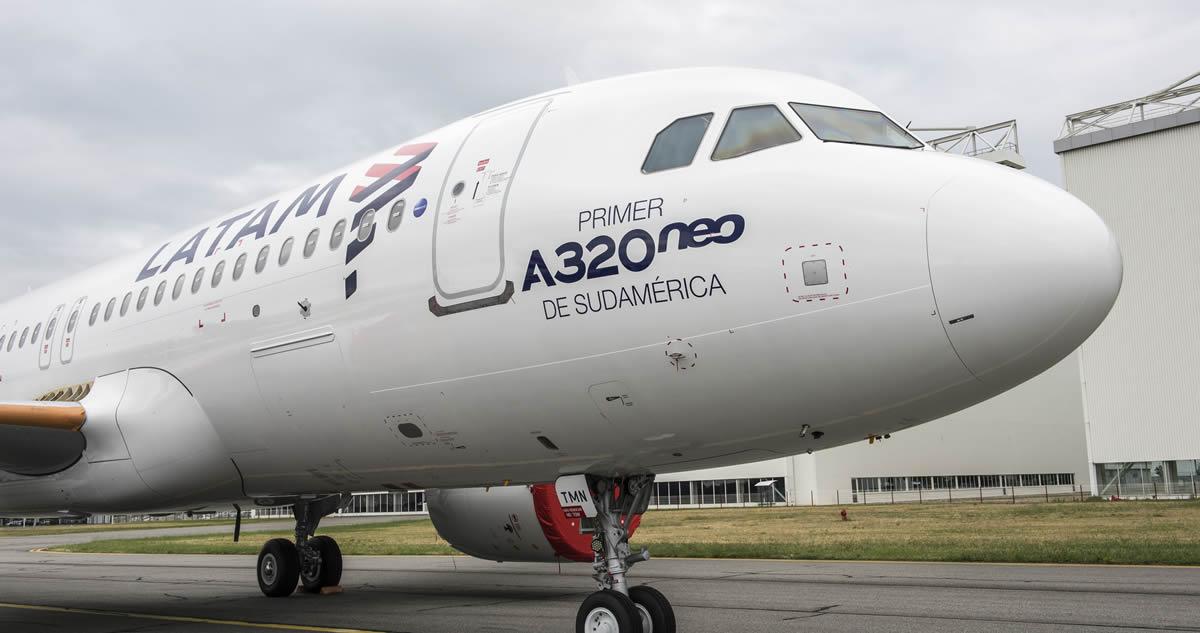 Primer Airbus A-320neo de Sudamérica y es de LATAM Airlines