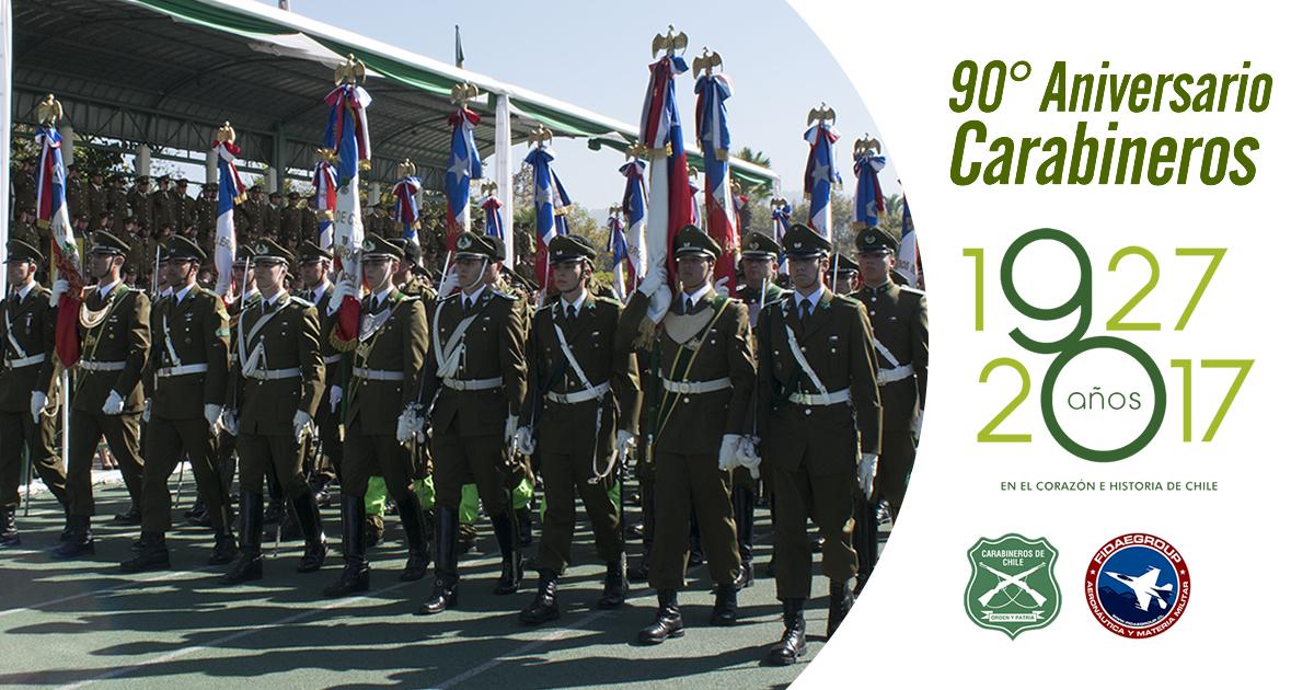 Ceremonia y desfile 90° Aniversario Carabineros de Chile