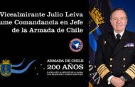 Vicealmirante Julio Leiva asume Comandancia en Jefe de la Armada de Chile