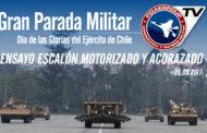 Ensayo Escalón Motorizado y Acorazado del Ejército de Chile 2017