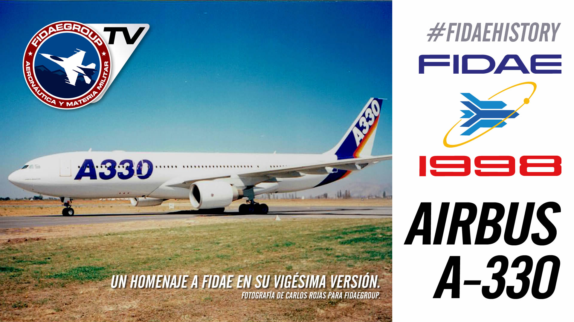 Presentación Airbus A-330 en FIDAE 1998