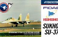 Demostración Sukhoi Su-37 Сухой Су-37 y su maniobra Cobra en FIDAE 1998