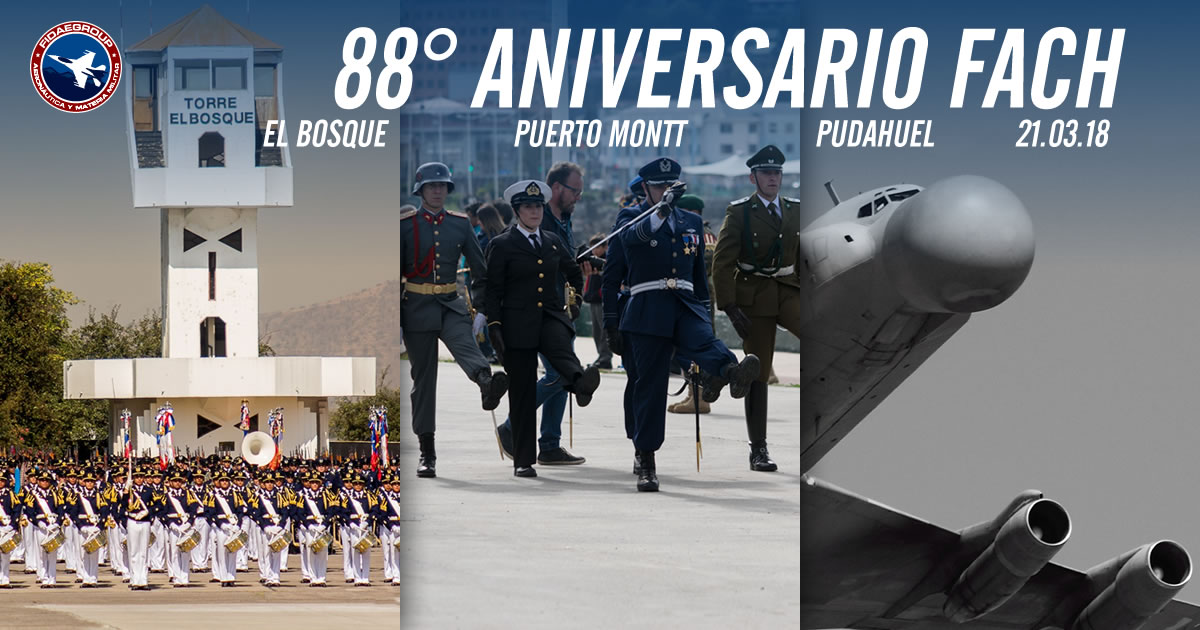 Photo of 88° Aniversario Fuerza Aérea de Chile El Bosque – Pto Montt – Pudahuel