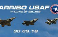 Primer arribo USAF en FIDAE 2018 30.03.2018