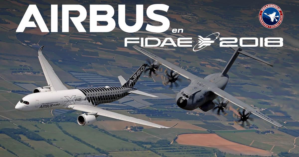 Airbus será el mayor expositor en FIDAE 2018