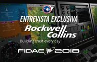 Jairo Soterio, Director General de Rockwell Collins presenta el Cockpit Display System en FIDAE 2018