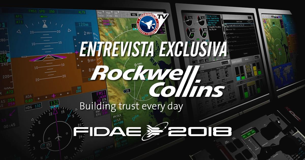 Jairo Soterio, Director General de Rockwell Collins presenta el Cockpit Display System en FIDAE 2018