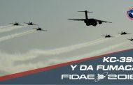 Da Fumaca y KC-390 deleitan al público de FIDAE 2018