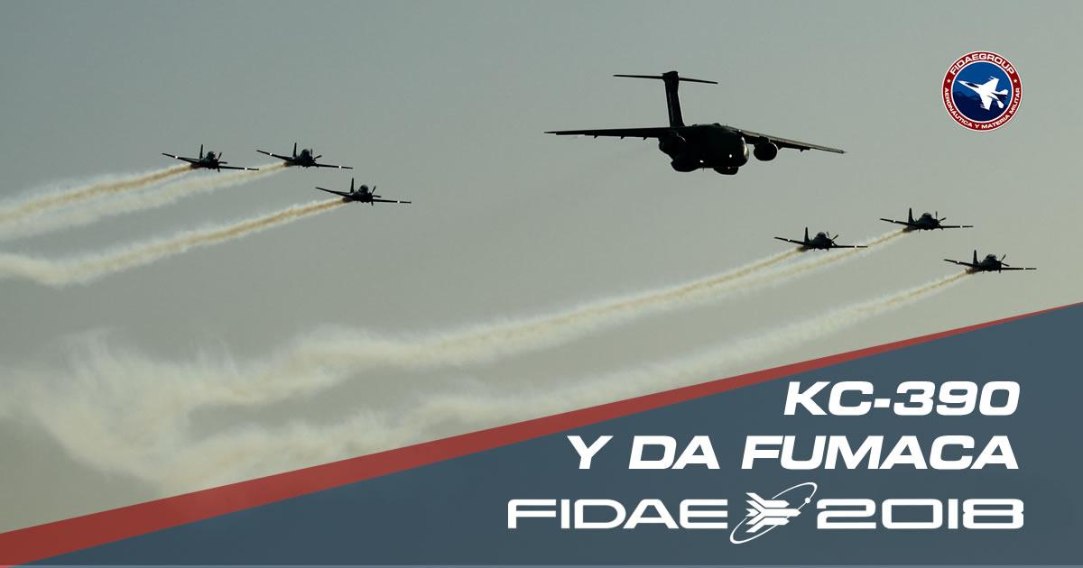 Photo of Da Fumaca y KC-390 deleitan al público de FIDAE 2018