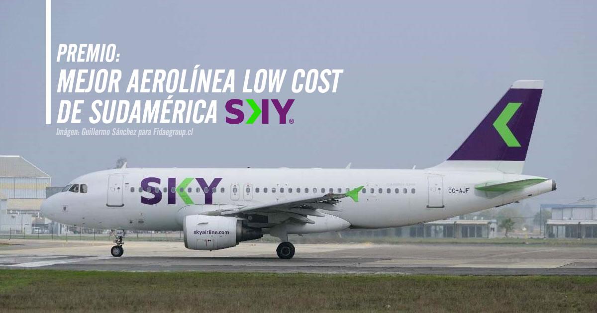 """SKY gana el premio """"Mejor Aerolínea Low Cost de Sudamérica"""""""