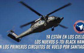 Ya están en los cielos los nuevos S-70i Black Hawk en los primeros circuitos de vuelo por Santiago
