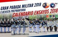 Calendario ensayos para Gran Parada Militar 2018