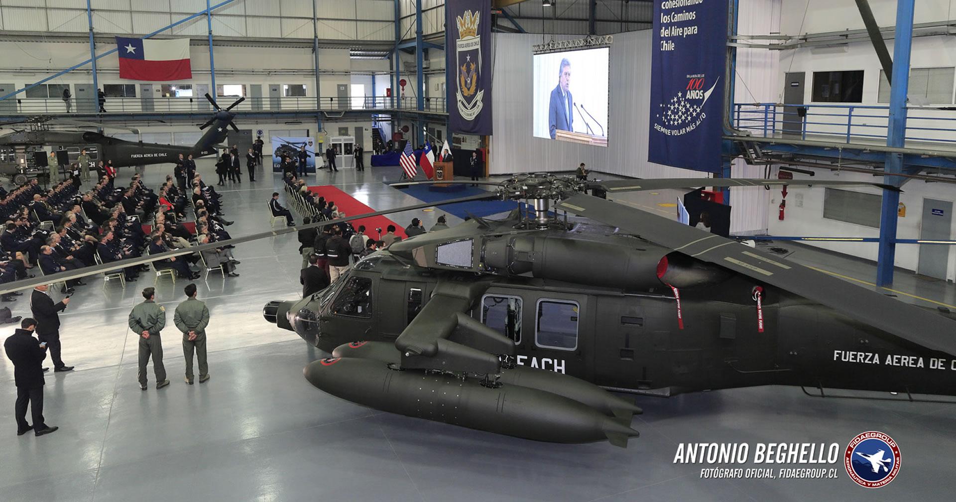 Ceremonia recepción nuevos Helicópteros Sikorsky MH-60M de la FACH