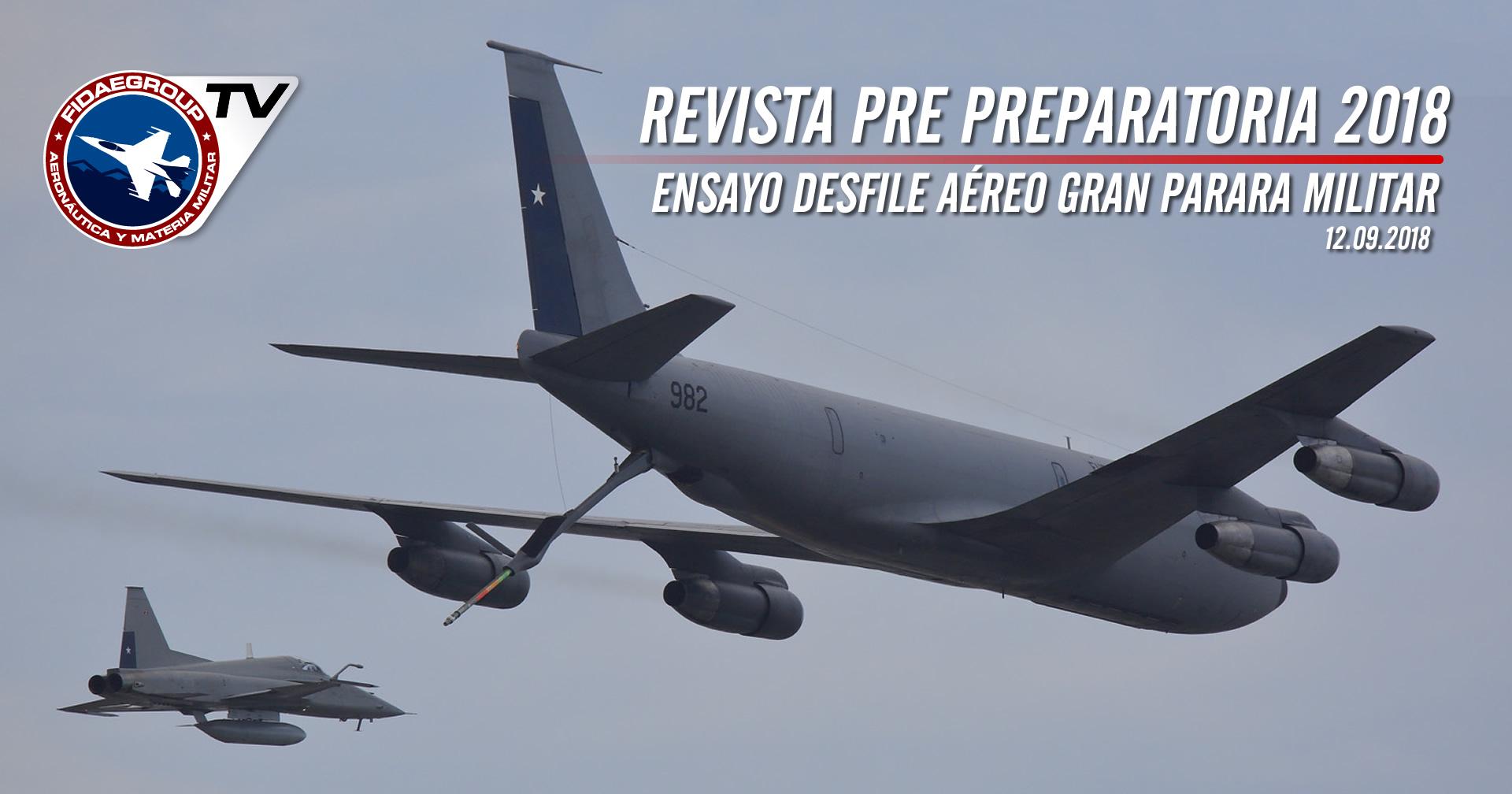 Ensayos Desfile Aéreo para Gran Parada Militar 2018