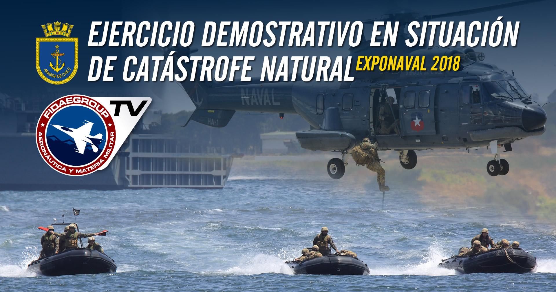 Ejercicio demostrativo en situación de catástrofe natural, Armada de Chile