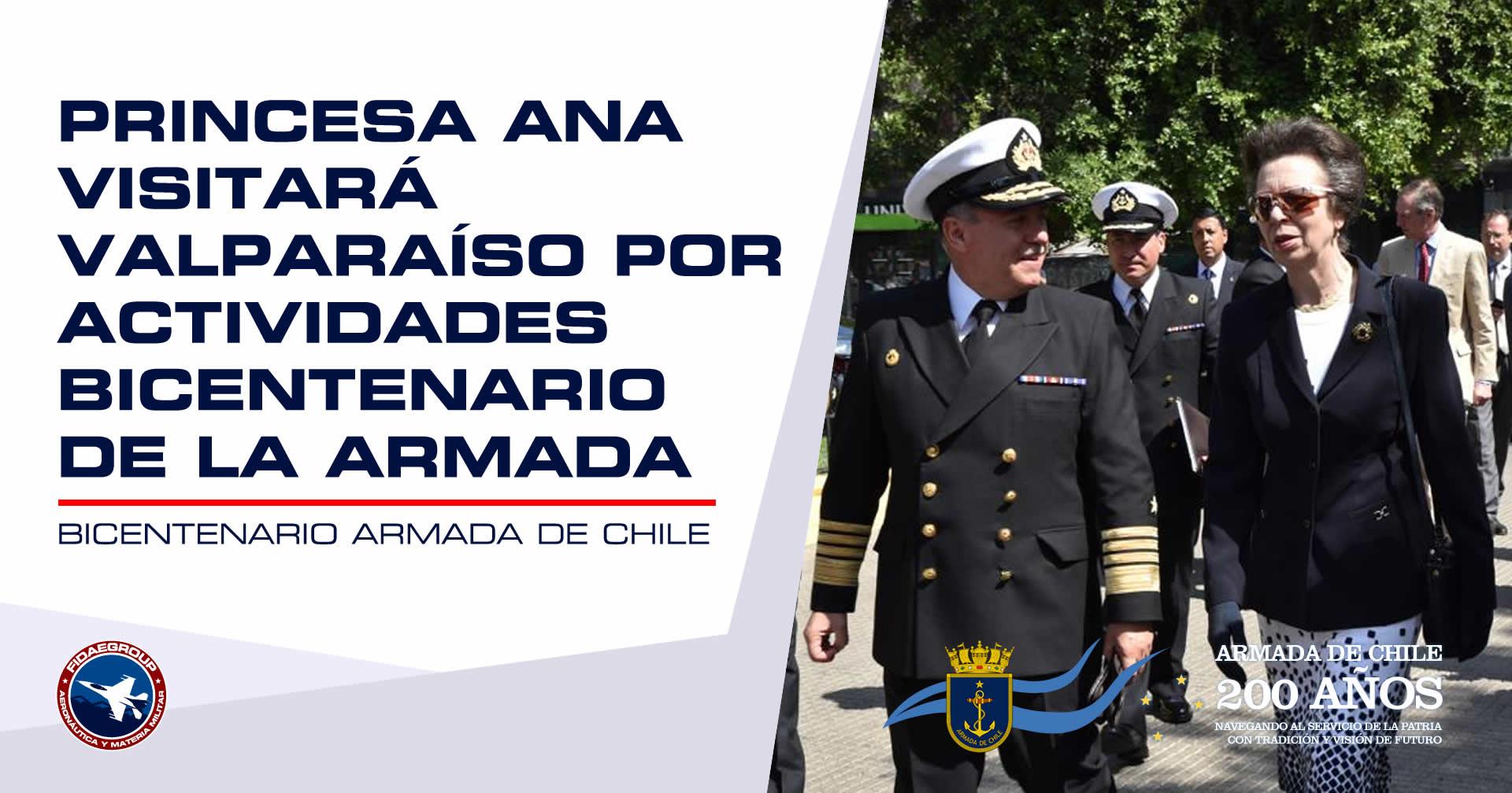 Photo of Princesa Ana visitará Valparaíso por actividades Bicentenario de la Armada
