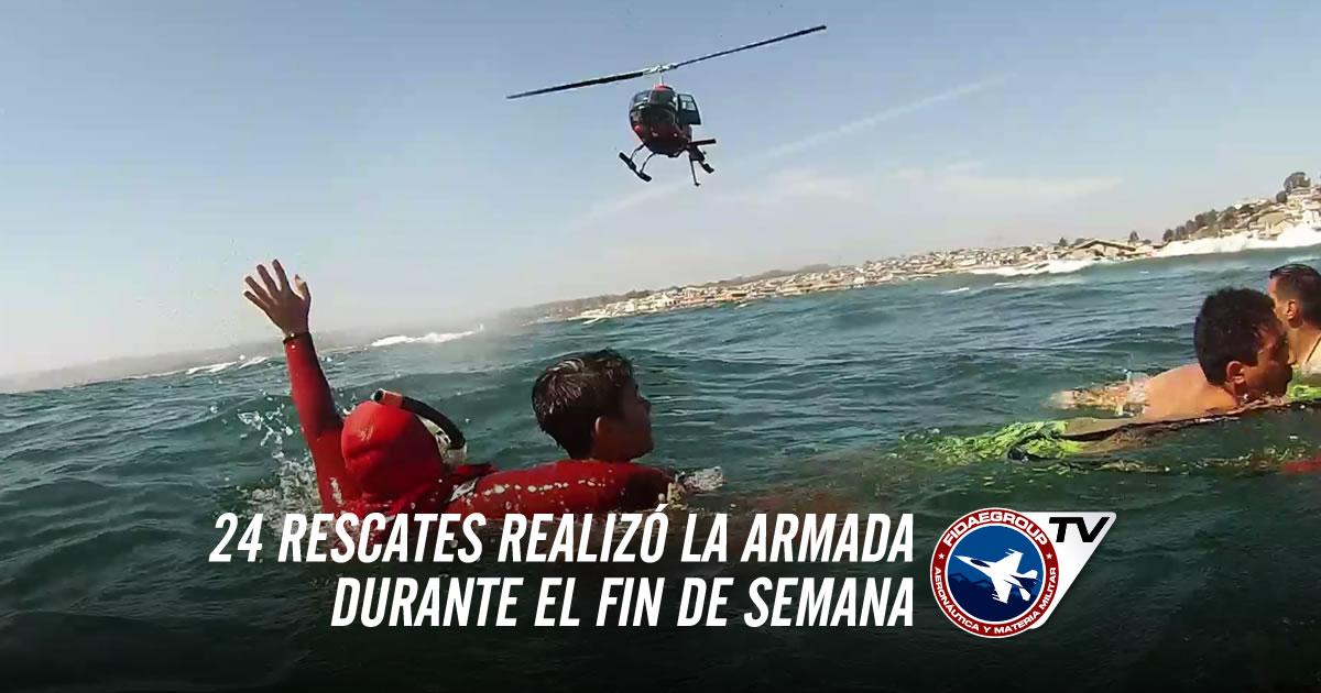 24 rescates realizó la Armada durante el fin de semana