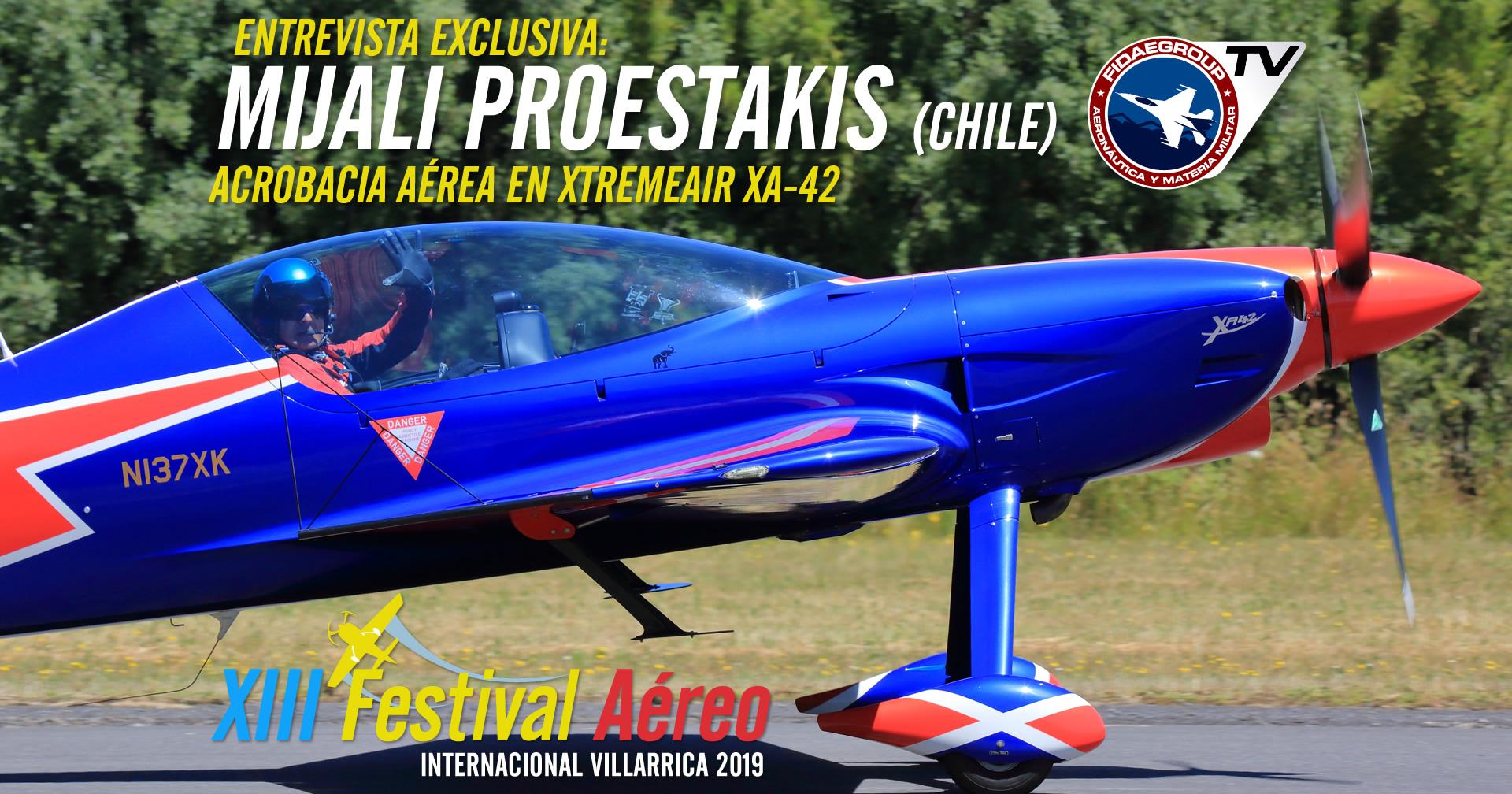 Mijali Proestakis y su XtremeAir XA-42 en Villarrica 2019