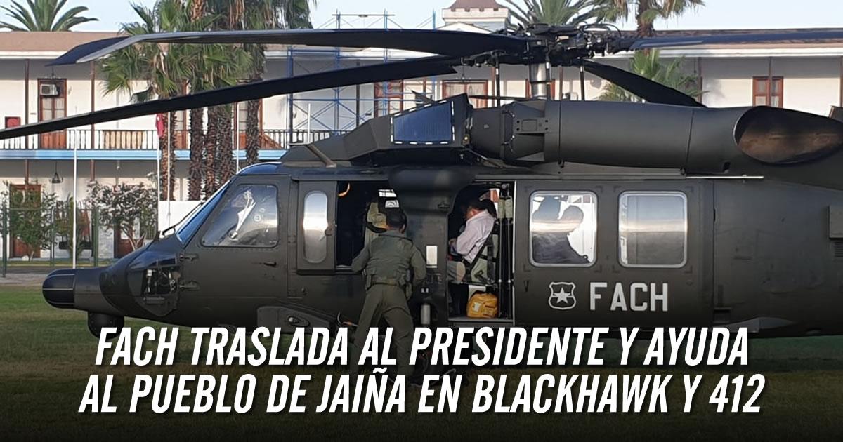 FACh traslada a Presidente y ayuda al pueblo de Jaiña