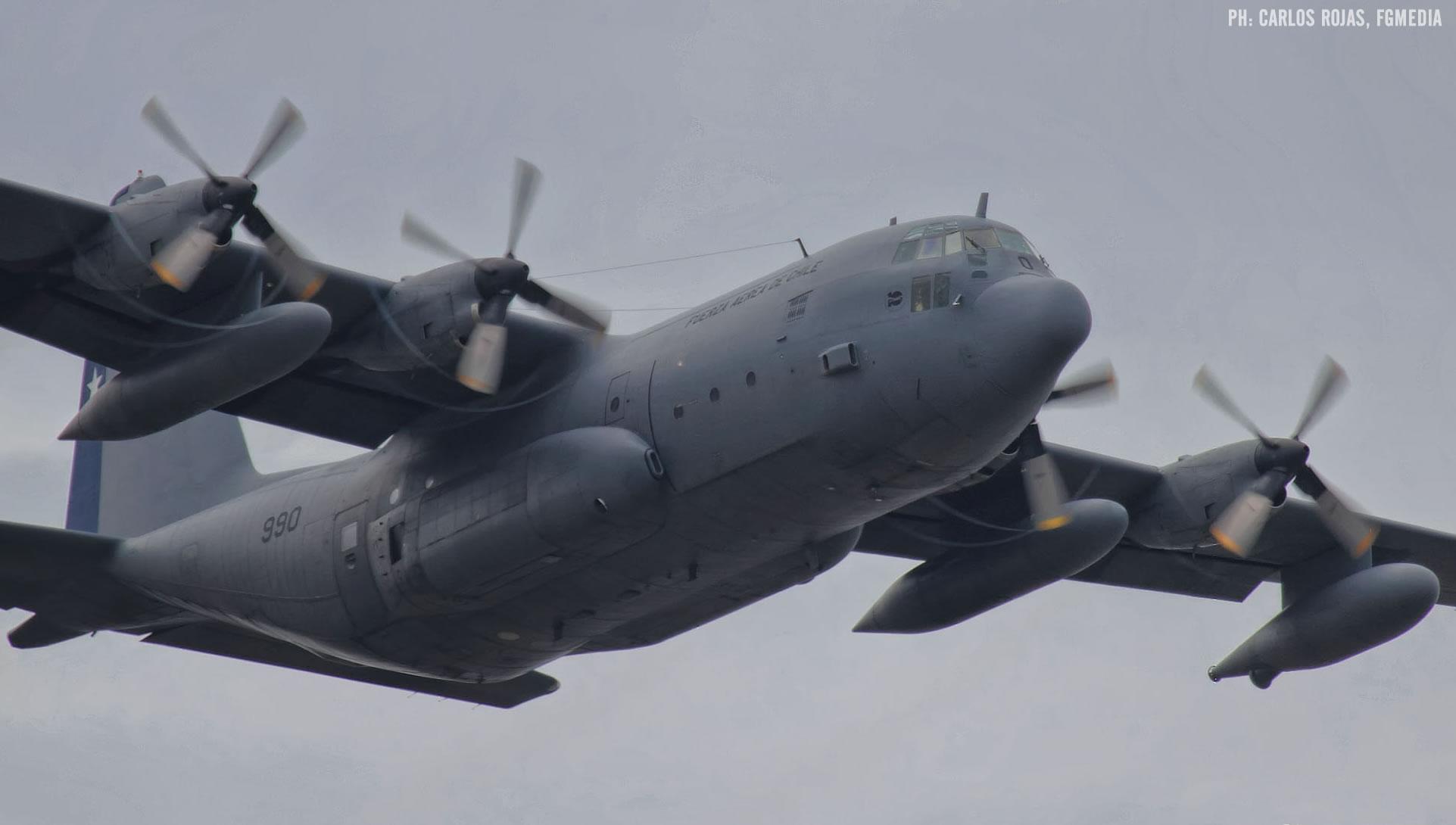 FACh entrega listado de tripulantes a bordo del KC-130R perdido en el mar de Drake