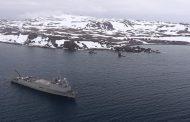 """Buque """"Sargento Aldea"""" recaló en Bahía Fildes antes de finalizar participación en Campaña Antártica"""