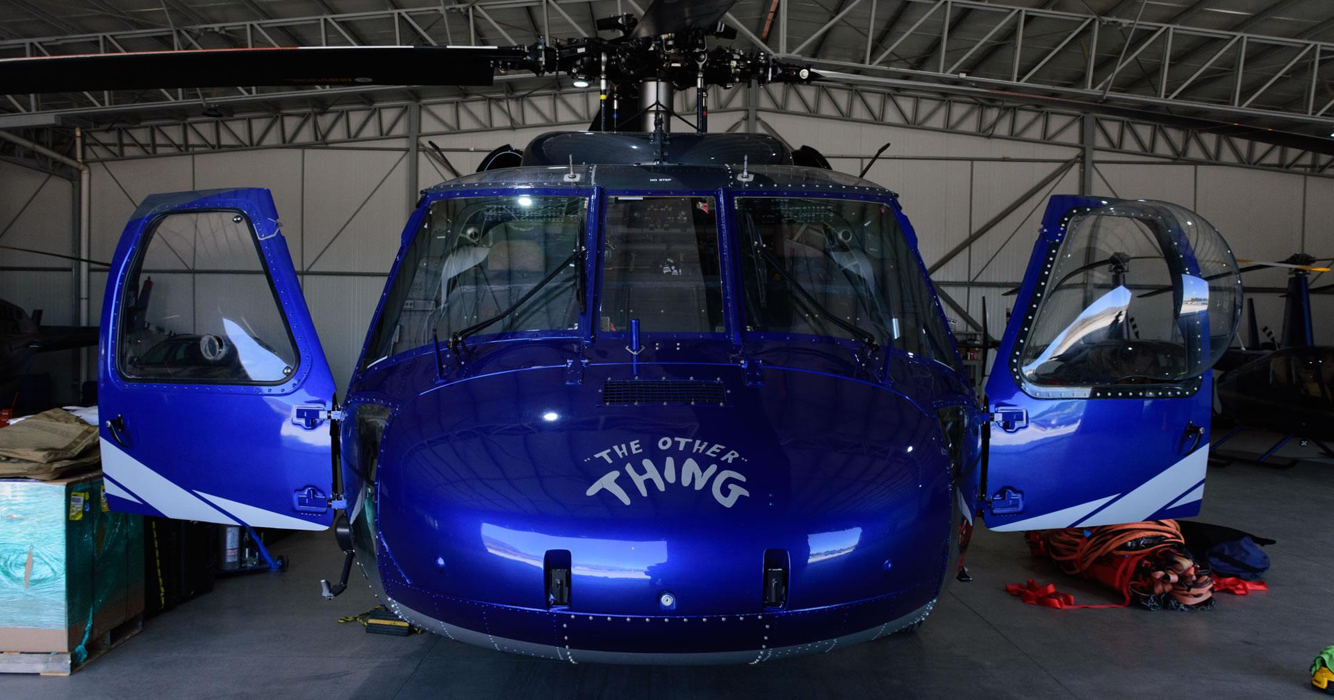 Llega a Chile helicoptero Black Hawk para combatir incendios.