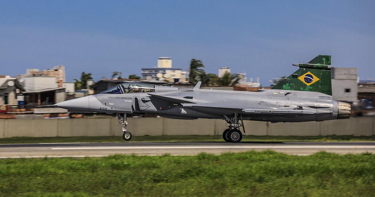 Fuerza Aérea de Brasil difunde imágenes inéditas del nuevo Saab F-39 Gripen NG