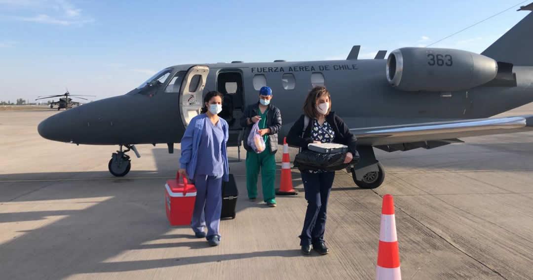 Fuerza Aérea realizó exitoso traslado de órganos desde Temuco hacia Santiago
