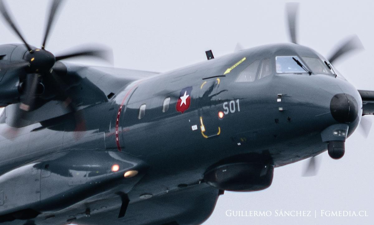 Airbus P-295 Persuader, los ojos nocturnos del incendio en Quilpué