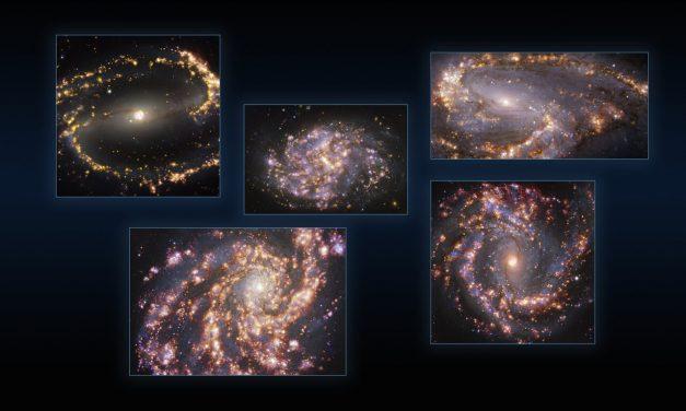 Fuegos artificiales galácticos: nuevas imágenes de ESO revelan impresionantes características de galaxias cercanas